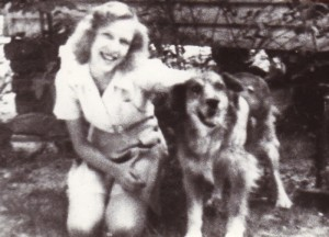 Rex's mother with an old time farm shepherd